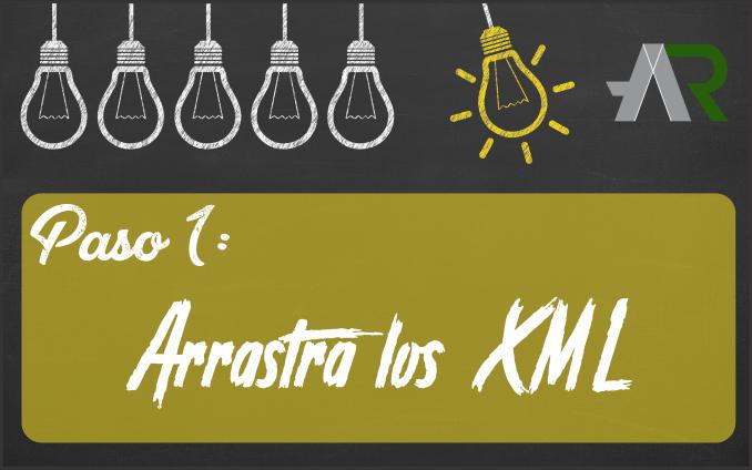 Arrastra los XML de descarga masiva XML
